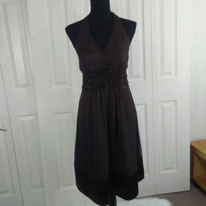 BCBG MAXAZARA  Brown 100% Silk Dress